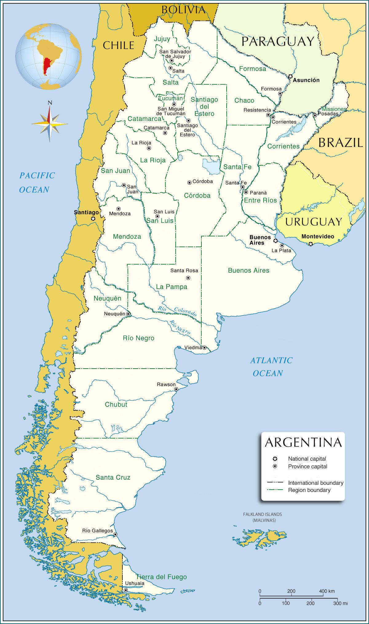 Paleofloras - Argentina vegetation map
